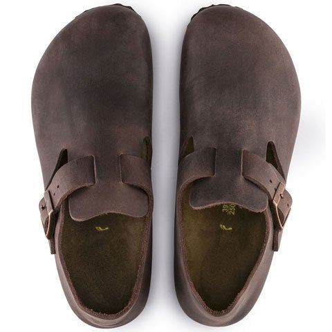 Birkenstock London (Unisex) - Habana Oiled Leather Dress/Casual|Clogs & Mules - The Heel Shoe Fitters