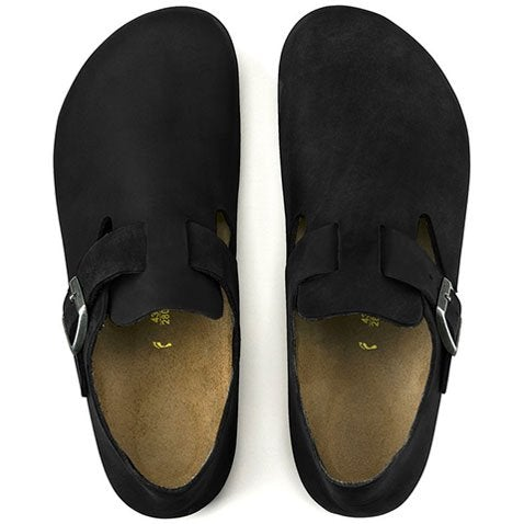 Birkenstock London (Unisex) - Black Oiled Leather Dress/Casual|Clogs & Mules - The Heel Shoe Fitters