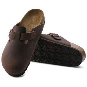 Birkenstock Boston (Unisex) - Habana Oiled Leather Dress/Casual|Clogs & Mules - The Heel Shoe Fitters