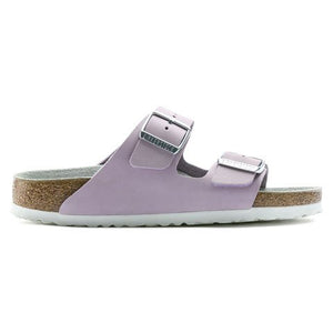 Birkenstock Arizona Nubuck Leather (Women)(N) - Lilac Sandals|Slide Sandals - The Heel Shoe Fitters