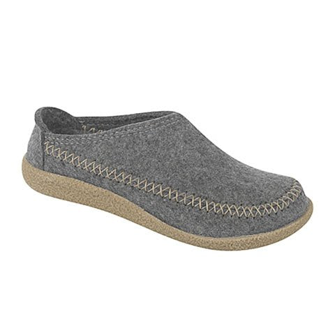 Haflinger Fletcher - Grey Dress/Casual|Clogs & Mules - The Heel Shoe Fitters