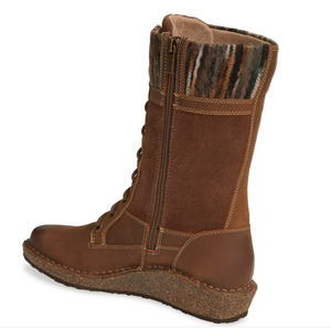 Aetrex Elsa Tall Wedge Boot - Cognac