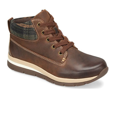Bionica Tucson (Women) - Aztec Brown/Olive Plaid Boots|Hiking - Low - The Heel Shoe Fitters
