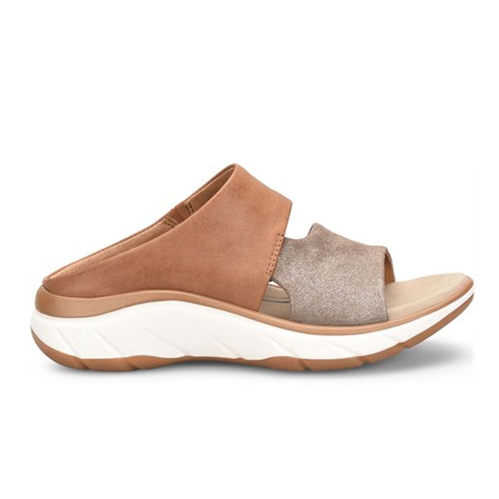 Bionica Airmont (Women) - Bronze/Saddle Sandals - Slide Sandals - The Heel Shoe Fitters