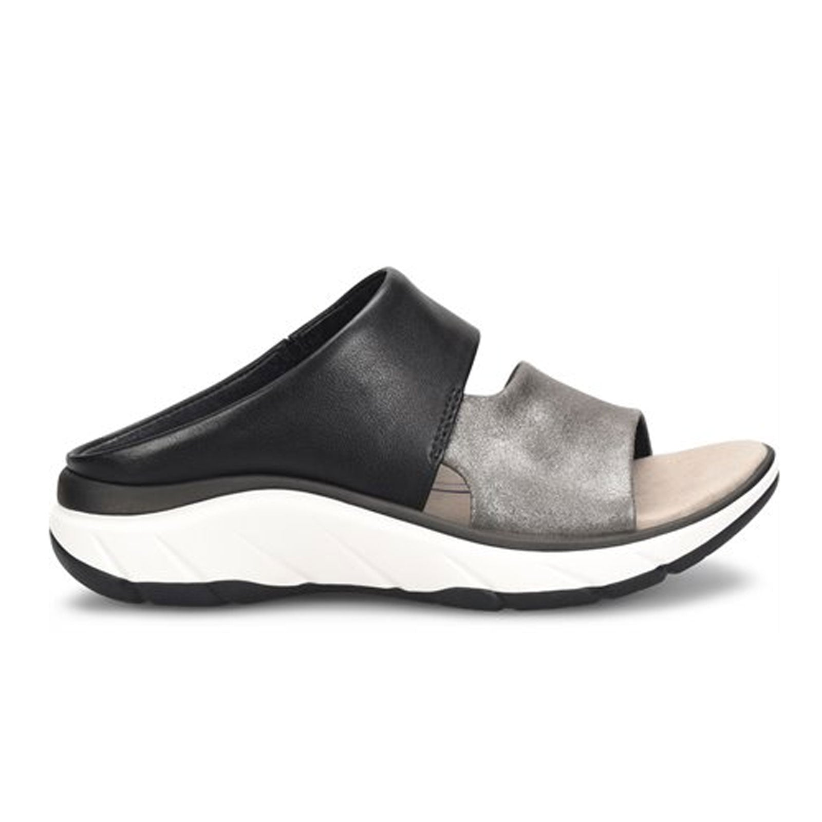 Bionica Airmont (Women) - Pewter/Black Sandals - Slide Sandals - The Heel Shoe Fitters