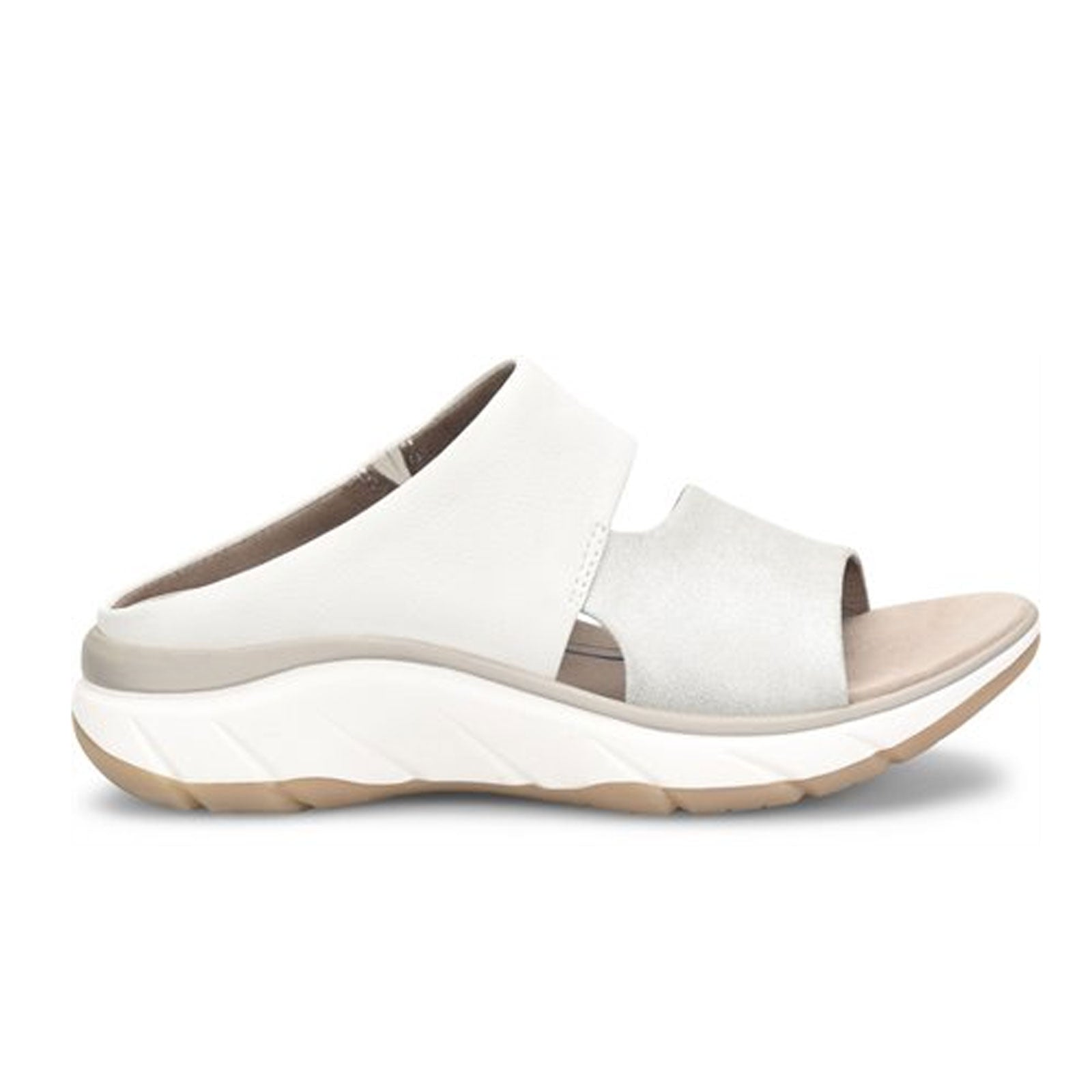 Bionica Airmont (Women) - Silver/White Sandals - Slide Sandals - The Heel Shoe Fitters