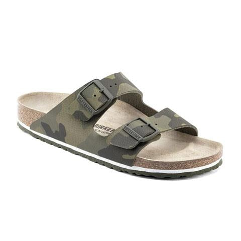Birkenstock Arizona (Men) - Desert Soil Camo Green Sandals|Slide Sandals - The Heel Shoe Fitters