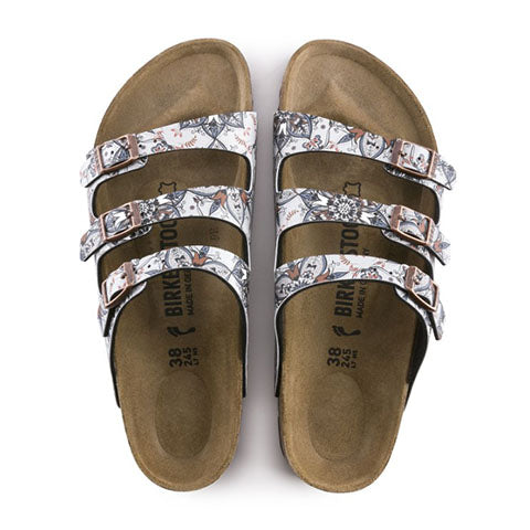 Birkenstock Florida Fresh (Women)- Boho Flowers Navy