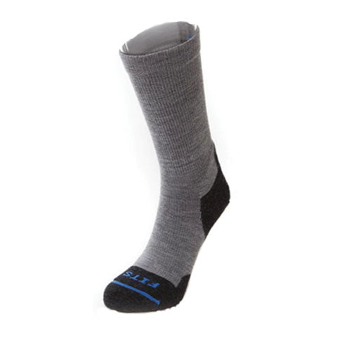 Fits Light Hiker Crew (Unisex) - Light Grey Socks|Perf - Crew - The Heel Shoe Fitters