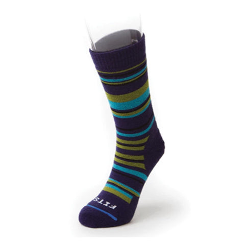 Fits Medium Hiker Crew (Unisex) - Eggplant Socks|Perf - Crew - The Heel Shoe Fitters