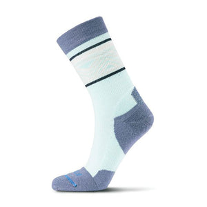 Fits Light Hiker Crew (Women) - Lucite/Steel Blue Socks - Perf - Crew - The Heel Shoe Fitters