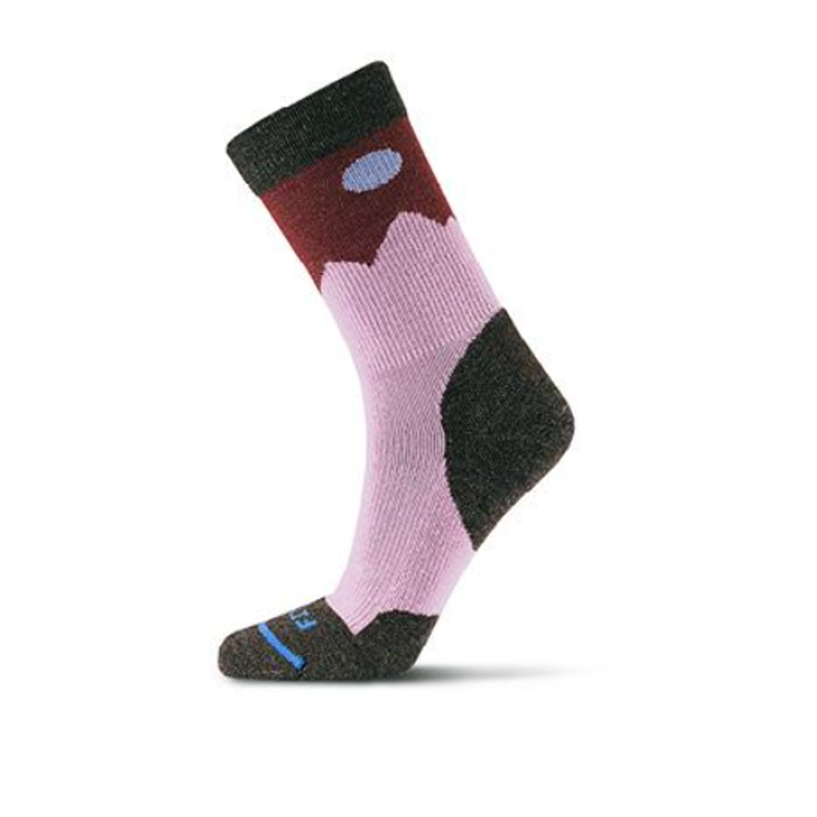 Fits Light Hiker Crew (Unisex) - Chestnut/Tawny Port Socks|Perf - Crew - The Heel Shoe Fitters
