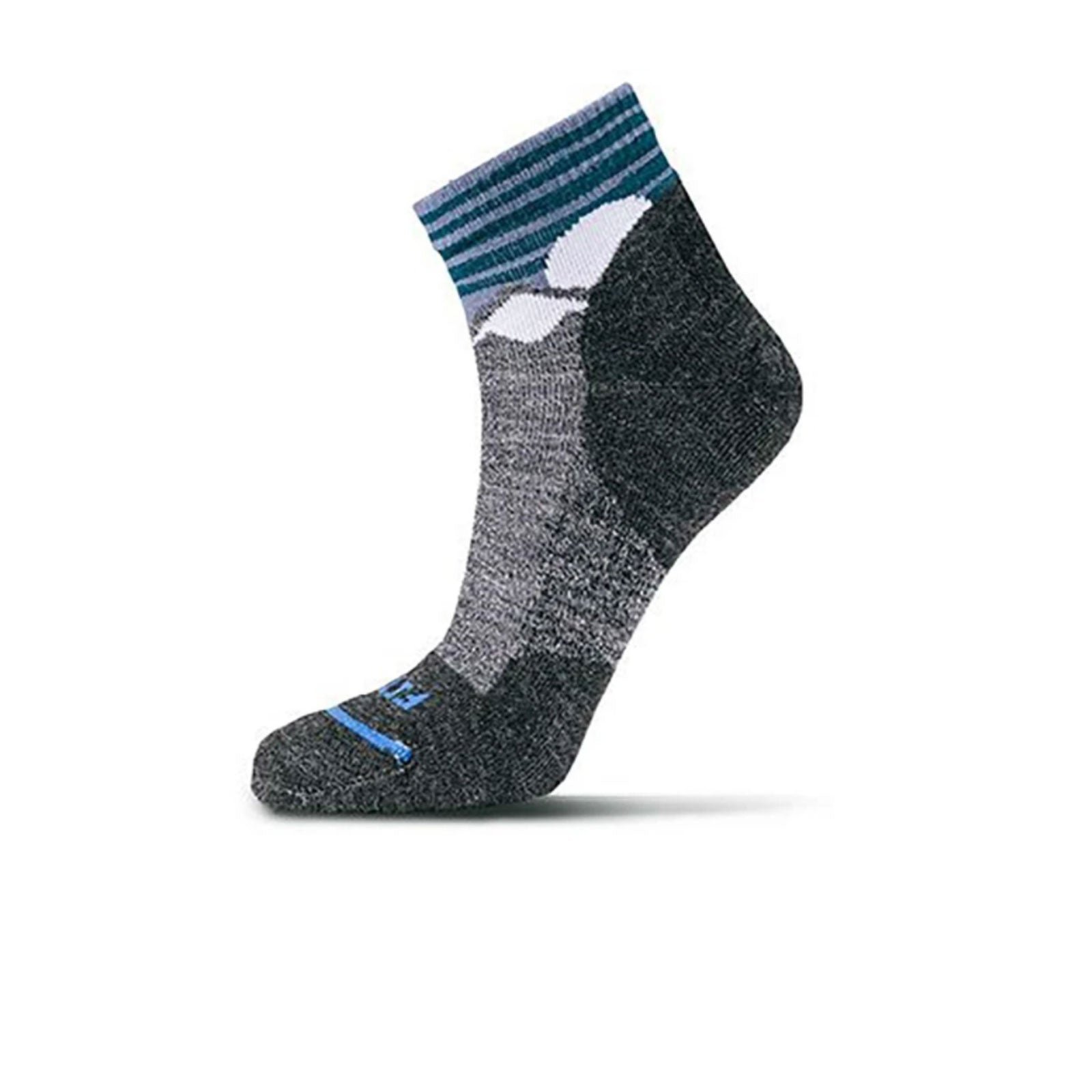 Fits Light Hiker Quarter (Unisex) - Coal Socks - Perf - Mid Crew - The Heel Shoe Fitters