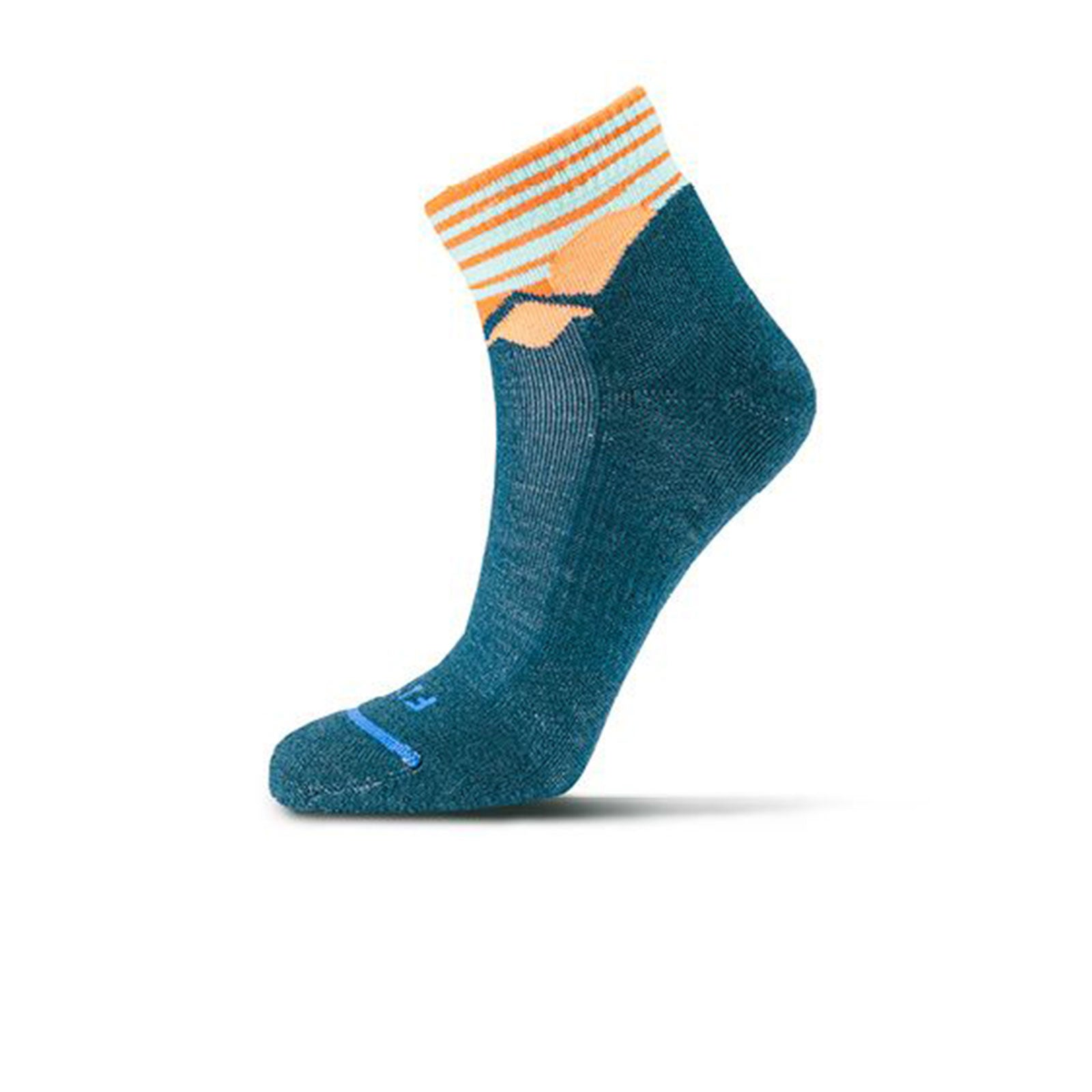 Fits Light Hiker Quarter (Unisex) - Reflecting Pond Socks - Perf - Mid Crew - The Heel Shoe Fitters