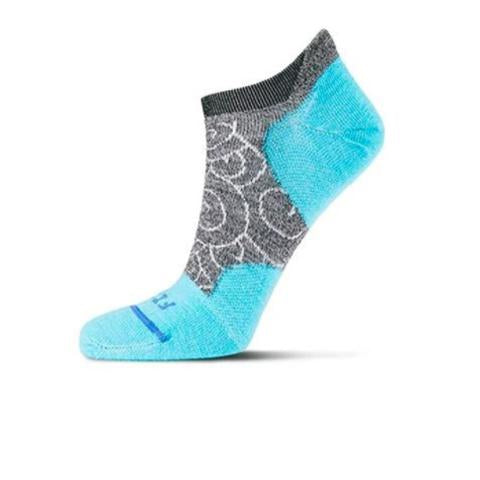 Fits Ultra Light Runner No Show (Women) - Coal/Scuba Blue Socks - Life - No Show - The Heel Shoe Fitters
