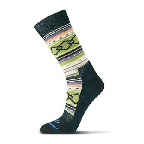 Fits Casual Crew (Unisex) - Black/Woodbine Socks|Life - Crew - The Heel Shoe Fitters