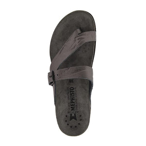 Mephisto Helen (Women) - Grey Etna Sandals|Thong Sandals - The Heel Shoe Fitters