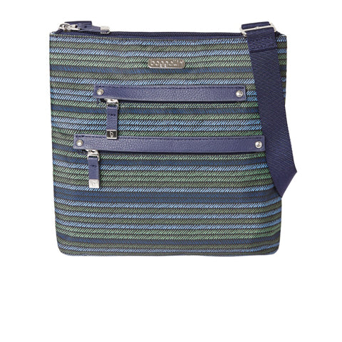 Baggallini All Around Medium Crossbody - Moss Stripe
