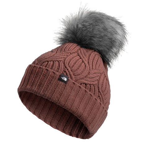 The North Face Oh-Mega Fur Pom Beanie - Marron Purple