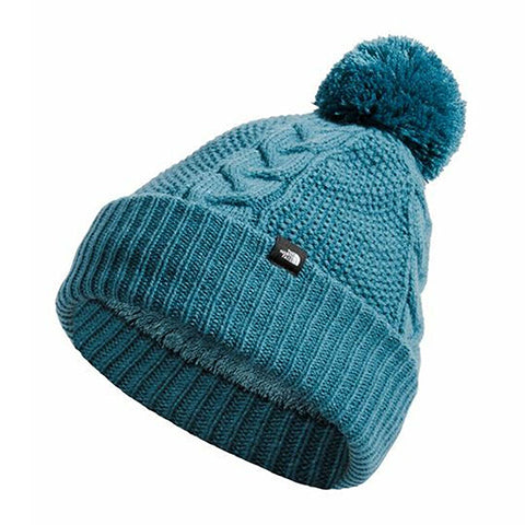 The North Face Cable Minna Beanie - Mallard Blue Outerwear - Headwear - Beanie - The Heel Shoe Fitters
