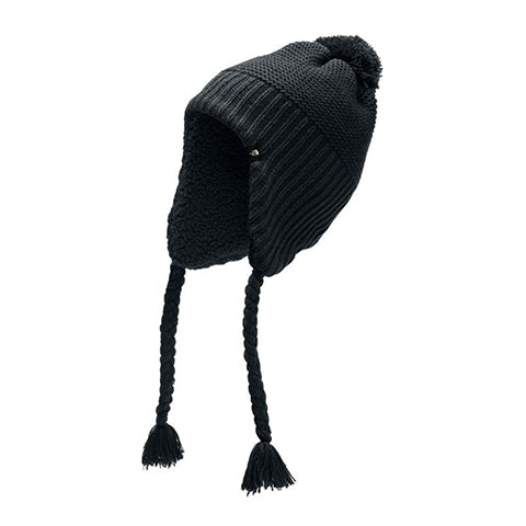 The North Face Purrl Stitch Earflap Beanie (Women) TNF Black Outerwear - Headwear - Beanie - The Heel Shoe Fitters