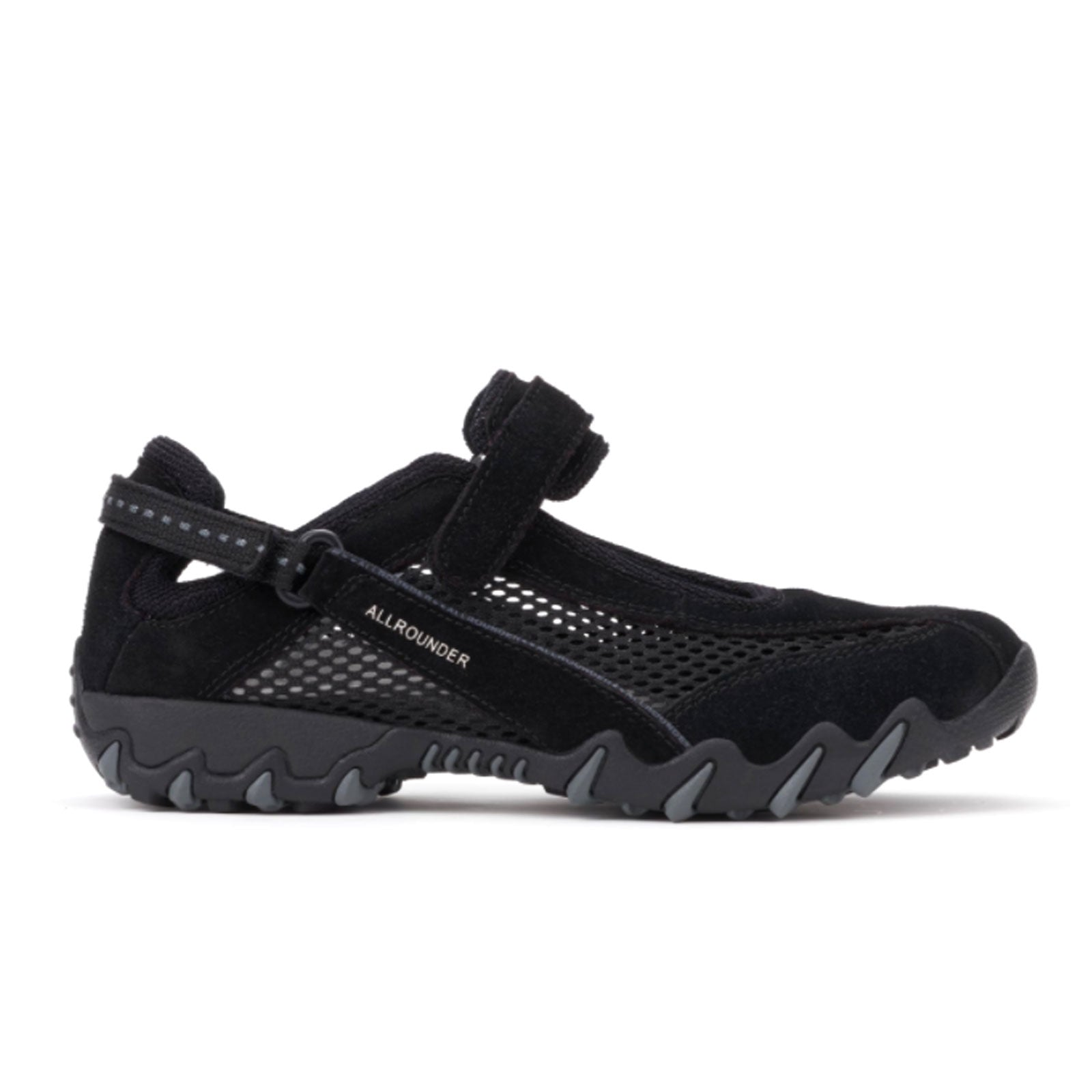 Mephisto Niro (Women) - Black Suede/Mesh Dress/Casual|Slip Ons - The Heel Shoe Fitters