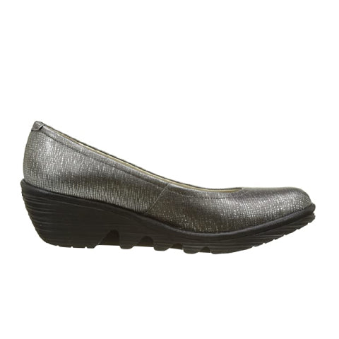 Fly London Pump (Women) - Anthracite Silver/Black Dress/Casual|Heels - The Heel Shoe Fitters