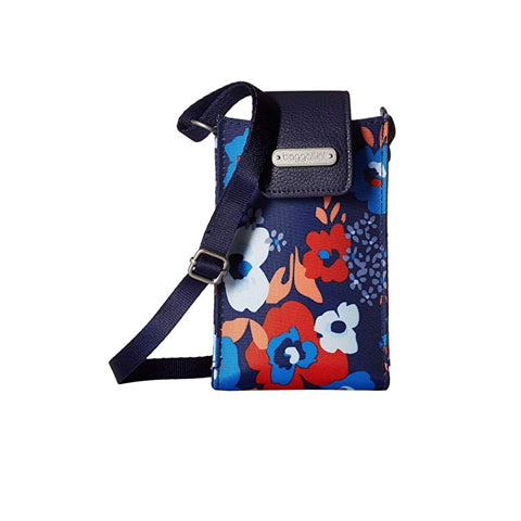 Baggallini Phone Crossbody - Spring Bloom