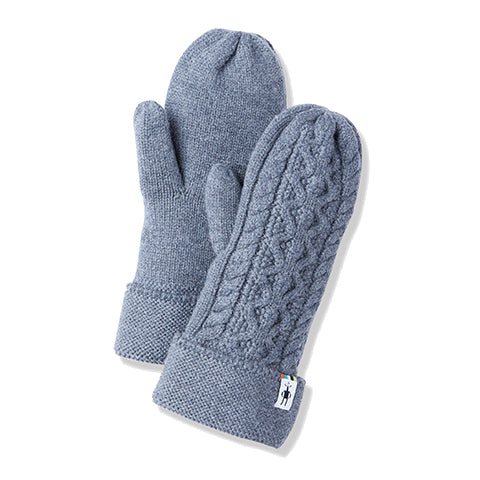 Smartwool Bunny Slope Mittens - Medium Gray Heather