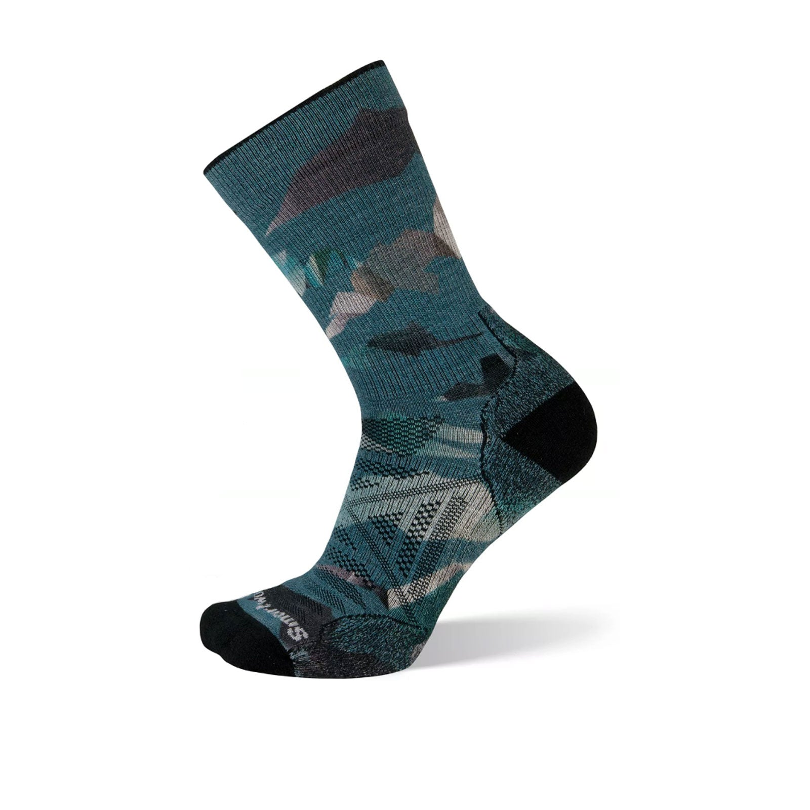 Smartwool PhD Outdoor Light Mountain (Men) - Frosty Green Socks - Life - Crew - The Heel Shoe Fitters