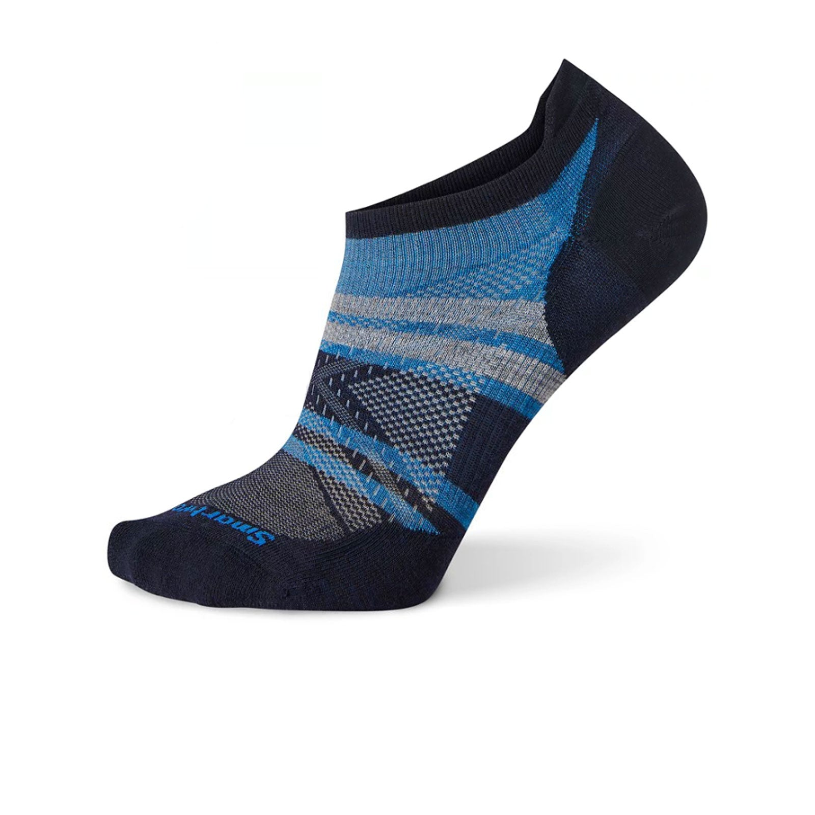 Smartwool PhD Run Ultra Light Pattern Micro (Men) - Deep Navy Socks - Perf - Micro - The Heel Shoe Fitters