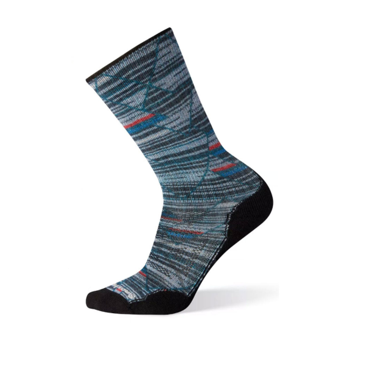 Smartwool PhD Outdoor Light Margarita Print Crew (Men) - Deep Navy Socks|Perf - Crew - The Heel Shoe Fitters