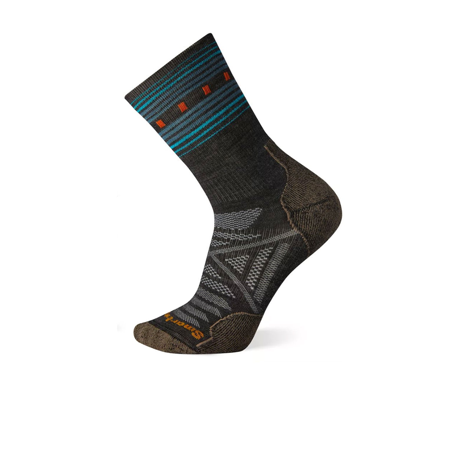 Smartwool PhD Outdoor Light Pattern Crew (Men) - Charcoal Socks - Perf - Crew - The Heel Shoe Fitters