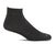 Sockwell Plantar Ease Quarter (Men) - Black Solid Socks - Comp - Crew - The Heel Shoe Fitters