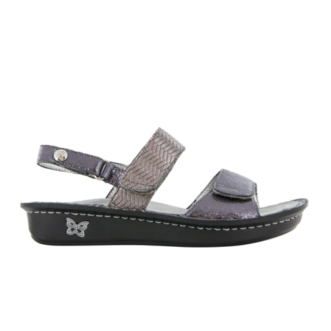 Alegria Verona (Women) - Braided Pewter Sandals|Wedge Sandals - The Heel Shoe Fitters