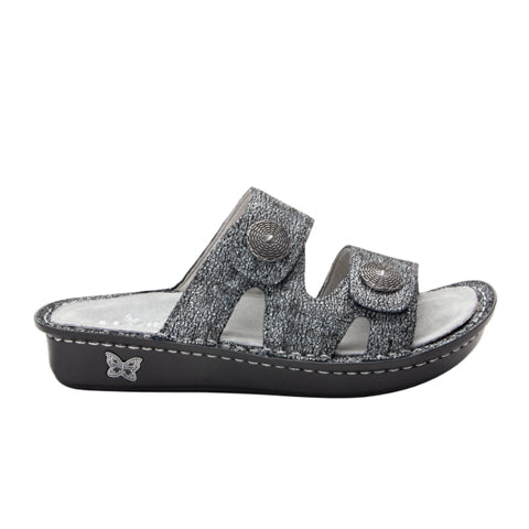 Alegria Violette (Women) - Chirpy Pewter Sandals|Slide Sandals - The Heel Shoe Fitters
