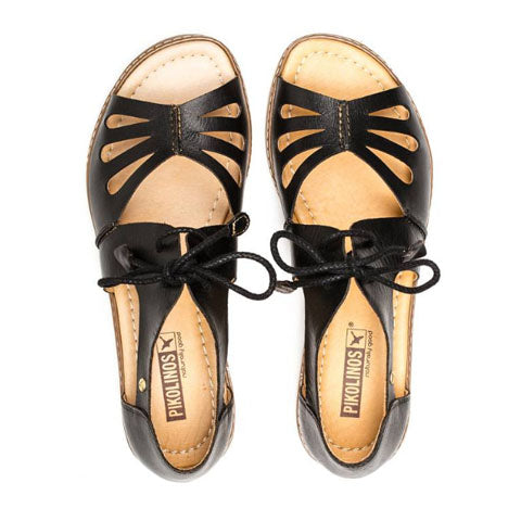 Pikolinos Alcudia W1L-0917 - Black Sandals|Backstrap Sandals - The Heel Shoe Fitters