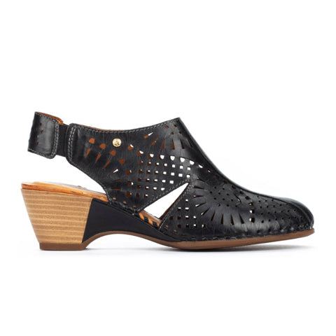 Pikolinos Romana W9X-1786 - Black Sandals|Heeled Sandals - The Heel Shoe Fitters