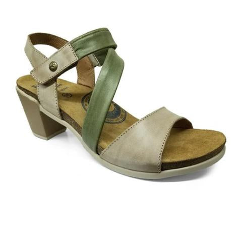 Wanda Panda Wandar (Women) - Taupe/Moss Sandals|Heeled Sandals - The Heel Shoe Fitters