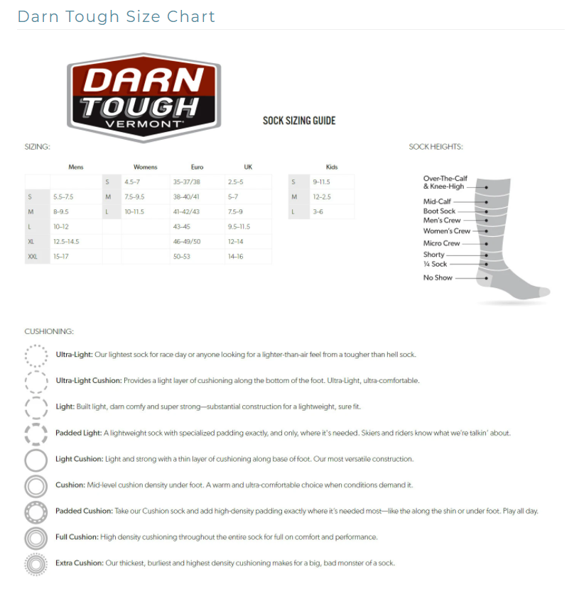 Darn Tough Warlock Crew Light (Men) - Charcoal/Gray Socks|Life - Crew - The Heel Shoe Fitters