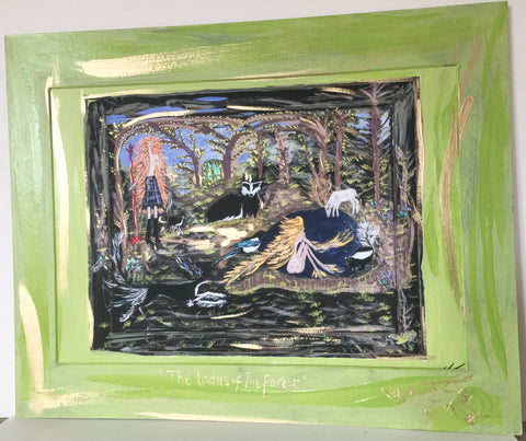 "The Ladies of The Forest - 20"" x 16"" Mounted (apperture approx A3 (297 x 420 mm)"