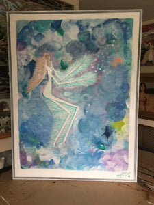 "Pie In The Sky -  Framed Canvas approx 96 x 126 cm (37.75"" x 49.5"")"