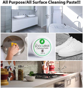 Eco-Friendly Biodegradable Cleaning Paste with Sponge 250g