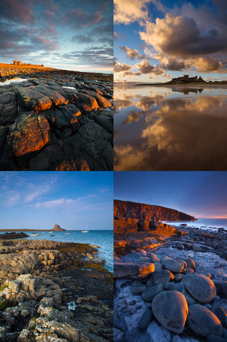 Northumberland Castles & Coast - Greeting Cards - Pack of 4