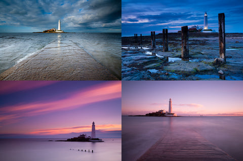 Whitley Bay St Mary's Lighthouse - Greeting Cards - Pack of 4