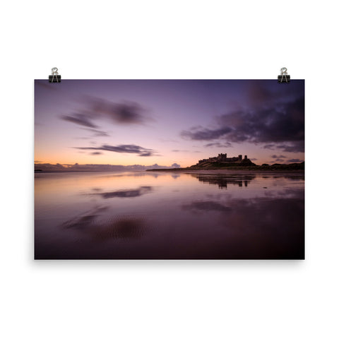 Bamburgh Castle Dawn (Northumberland) Poster