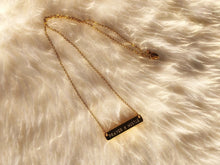 Load image into Gallery viewer, Custom Prayer & Hustle bar necklace-gold