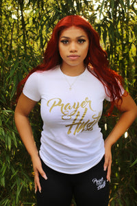 Women's White & Gold t-shirt
