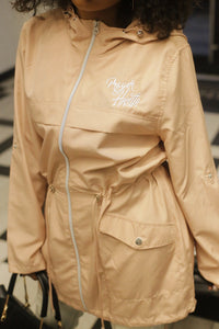sustainable fashion packable parka selena hill collection