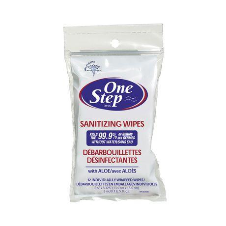 One Step Hand Sanitizer Wipes